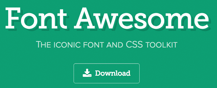 font_awesomeロゴ